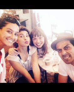 Fun time on the sets: The team of Roy with Jacqueline Fernandez, Shibani Dandekar and Arjun Rampal.