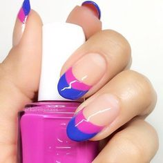 Double french manucure fluo
