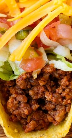 Five Approaches To Economize Transforming Your Kitchen Area Homemade Beef Taco Best Beef Recipes, Meat Recipes, Slow Cooker Recipes, Mexican Food Recipes, Crockpot Recipes, Ground Beef Tacos, Tacos And Burritos, Easy Dinner Recipes, Breakfast Recipes