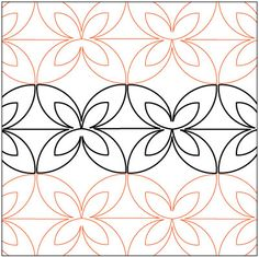 Retro Revolution Echoed Petite quilting pantograph pattern by Patricia Ritter of Urban Elementz