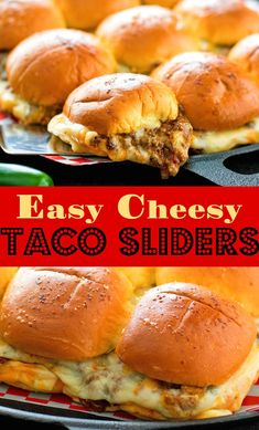 Steak and Cheese Sandwiches Recipe New Easy Cheesy Taco Sliders In 2019 Beef Steak Recipes, Beef Recipes For Dinner, Mexican Food Recipes, Thai Recipes, Tacos, Healthy Diet Recipes, Cooking Recipes, Bread Recipes, Easy Food Recipes