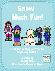 Snow Much Fun! Winter Writing Activity for Beginning Writers- Writers will write about what they can do in the snow!  Visual boards and graphic organizers are included to support our beginning writers.  Perfect for K-2 and/ or special education, or ELL students.