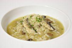 Cinco Quartos de Laranja: Risotto com cogumelos Portobello