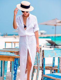 Cheap praia, Buy Quality praia saida Directly from China Suppliers:Bathing Suit Cover Ups Bikini Beach Wear Summer Dress Beach Cover Chiffon Shirt Collar Buckle Robe De Plage Saida De Praia 2017 Long Shirt Dress, Maxi Dress With Sleeves, The Dress, Long Blouse, Blouse Dress, Dress Shirts, Summer Maxi, Summer Outfits, Outfits 2016