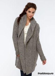 Вязанное пальто / как связать кардиган в стиле лало