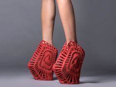 """Ammonite by Fernado Romero for United Nude 3D printed shoes: """"Reinvents"""