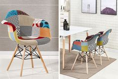 instead of (from Home Design International) for a patchwork armchair, or for two patchwork armchairs, or for four patchwork armchairs - save up to Bucket Chairs, Armchairs, Contemporary, Modern, Upholstery, House Design, Interiors, Furniture, Home Decor