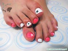 젤 페디큐어 / 발랄한 핑크빛 여름 페디큐어★ :: 네이버 블로그 Toe nails with stars
