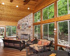four season porch design ideas - Google Search Four Season Sunroom, Three Season Porch, Three Season Room, House Columns, Small Porches, Screened Porches, Sunroom Addition, Porch Plans, Patio Enclosures