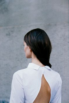 open back detail with collar