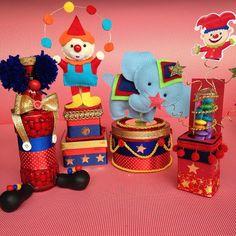 E assim ficou o kit do circo! Tudo feito com muito amor ❤️❤️❤️#lorenalimaperes #personalizadosdeluxo #feitoamao #festacirco