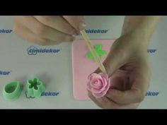 Sada Flowers, Wilton - výroba růží na dort - YouTube