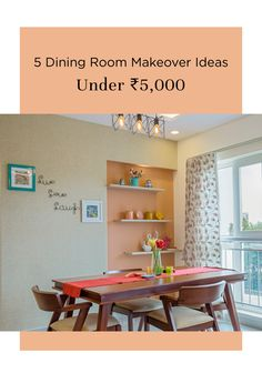 Take a look at these dining room makeover pictures and replicate it in your home as well. Here are five budget-friendly ideas to step up your dining room. Dining Nook, Dining Room Design, Dining Tables, Indian Dining Table, Refurbished Chairs, Flat Interior Design, Indian Room, Blue Living Room Decor, Wardrobe Design Bedroom