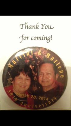 """2.25"""" Magnets  Marcial and Marlene 50th Anniversary"""