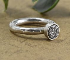 Silver ring, Gemstone, Thin ring, Beautiful, Handmade ring, l ring 925 silver, druzy Birthday gift, stone ring, statement ring, ring designs