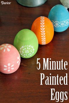 Decorative Eggs Home Decor Knockoff: 5 Minute Painted Eggs