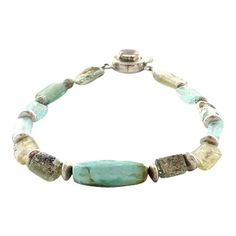 PERSIAN TURQUOISE BRACELET with ANCIENT GLASS from New World Gems