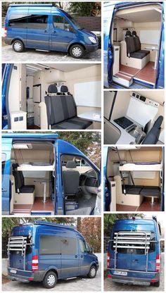 Flat pack diy furniture kits for camper vans Diy Van Camper, Build A Camper Van, Camper Van Life, Camper Caravan, Camper Trailers, Camper Hacks, Van Conversion Interior, Camper Van Conversion Diy, Mercedes Sprinter Camper Van