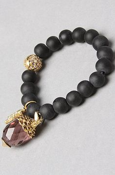 Disney Couture Jewelry The Icon Collection Tinkerbell Bracelet in Black,Jewelry for Women: