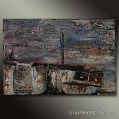 Years after the storm-Palette knife original expressionist fine art oil painting on canvas by by Blowart on Etsy Back Painting, Knife Painting, Painting Edges, Oil Painting On Canvas, After The Storm, Palette Knife, Acrylic Paintings, Art Oil, Fine Art