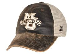 various colors 499be 8da46 Marquette Golden Eagles Top of the World Brown Scat Mesh Adjustable Snap Hat  Cap