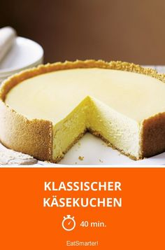 A must for every coffee table! The post classic cheesecake appeared first on Orchid Dessert. Cheesecake Tarts, Classic Cheesecake, Homemade Cheesecake, Cheesecake Desserts, Coconut Recipes, Baking Recipes, Snack Recipes, Baking Muffins, Baking Cupcakes