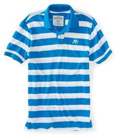A87 Bar Stripe Jersey Polo