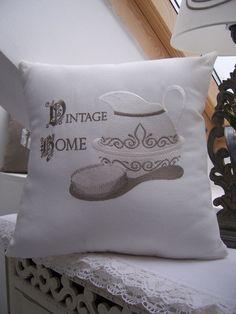 Vintage Kissen & Decken - Viktorianisch, Kissenhülle - ein Designerstück von ChabbyChic1889 bei DaWanda