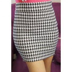 $4.94 Elegant Elastic Waist Houndstooth Pattern Cotton Blend Skirt For Women Sammy Dress, Houndstooth, Elastic Waist, Mini Skirts, Elegant, My Style, Pattern, Cotton, How To Make