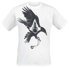 Assassin's Creed Syndicate T-shirt  -L- Krähe, wei