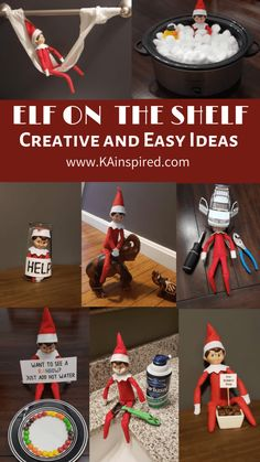 Elf on the shelf easy and creative ideas easy elf on the shelf ideas Are you looking for easy and creative Elf on the Shelf Ideas and scenarious so you can keep the magically christmas Traditions? Magical Christmas, Noel Christmas, All Things Christmas, Christmas Ideas, Christmas Wrapping, Funny Christmas, Christmas Projects, Christmas Decor, Christmas Doodles