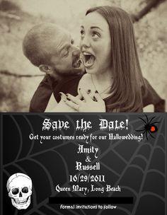 Halloween Wedding Save The Date Cards Veenvendelbosch