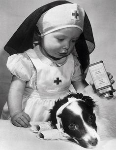 little nurse with her patient