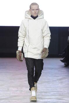 Rick Owens Men's RTW Fall 2013. white outerwear. #mensfall2013 #rickowens #whiteouterwear