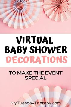 Virtual Baby Shower Decorations to make the event special. Fun baby shower ideas for online baby shower. Celebrate the mom with a long distance baby shower. Décoration Baby Shower, Baby Shower Venues, Cheap Baby Shower, Baby Shower Backdrop, Virtual Baby Shower, Baby Shower Balloons, Baby Shower Favors, Baby Shower Parties, Baby Shower Themes