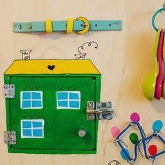 Busy Board houses Activity Board Sensory Board от Woodledoodleshop