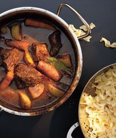 Classic beef stew with red wine, carrots & turnips (or parsnips)