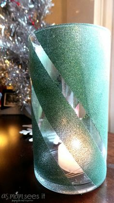 Christmas #Craft: DIY Glitter Vase |