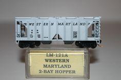N SCALE ARNOLD RAPIDO CUSTOM WESTERN MARYLAND 2-BAY COVERED HOPPER W/ MTL #5254
