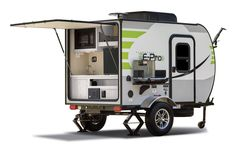 """Flagstaff E-Pro Travel Trailers The Flagstaff E-Pro line of travel trailers are for those campers that value being environmentally conscious and have chosen to drive today's more fuel efficient """"crossover"""" vehicles and smaller SUVs. With floor plans that weigh within the towing capacity of these..."""