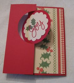 Thinlit Flip Christmas Card Scrap Rx