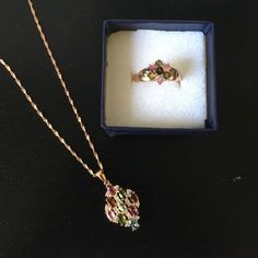 Vintage Rose Gold Necklace And Ring