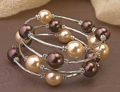 Coffee and Cream wrap bracelet by Isabella