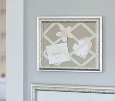 mom is making this with a brown frame, pink background and ivory ribbon...can't wait to see it.