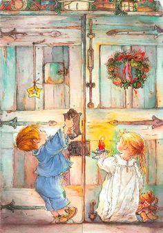 дети у дверей в кладовую