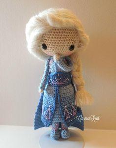 Crochet Lovey Free Pattern, Disney Crochet Patterns, Crochet Patterns Amigurumi, Amigurumi Doll, Crochet Dolls, Elsa, Frozen Crochet, Doll Videos, Cute Crafts