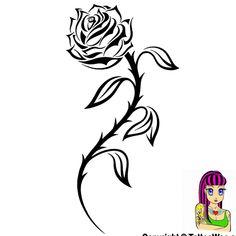 Tribal Rose Tattoo Picture - TattooWoo.com