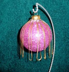 Recycled Jewelry Christmas Ornament