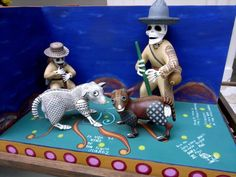 594 PANCHO SKELETON MEXICAN WOODEN FIGURE MOVABLE FREE SHIPPING $24.00 Buy It Now