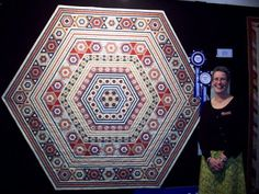 Linda White's Dear Prudence Quilt won Best of Show AND Best Quilt at Victorian Quilters 'Fabric of Society' Challenge